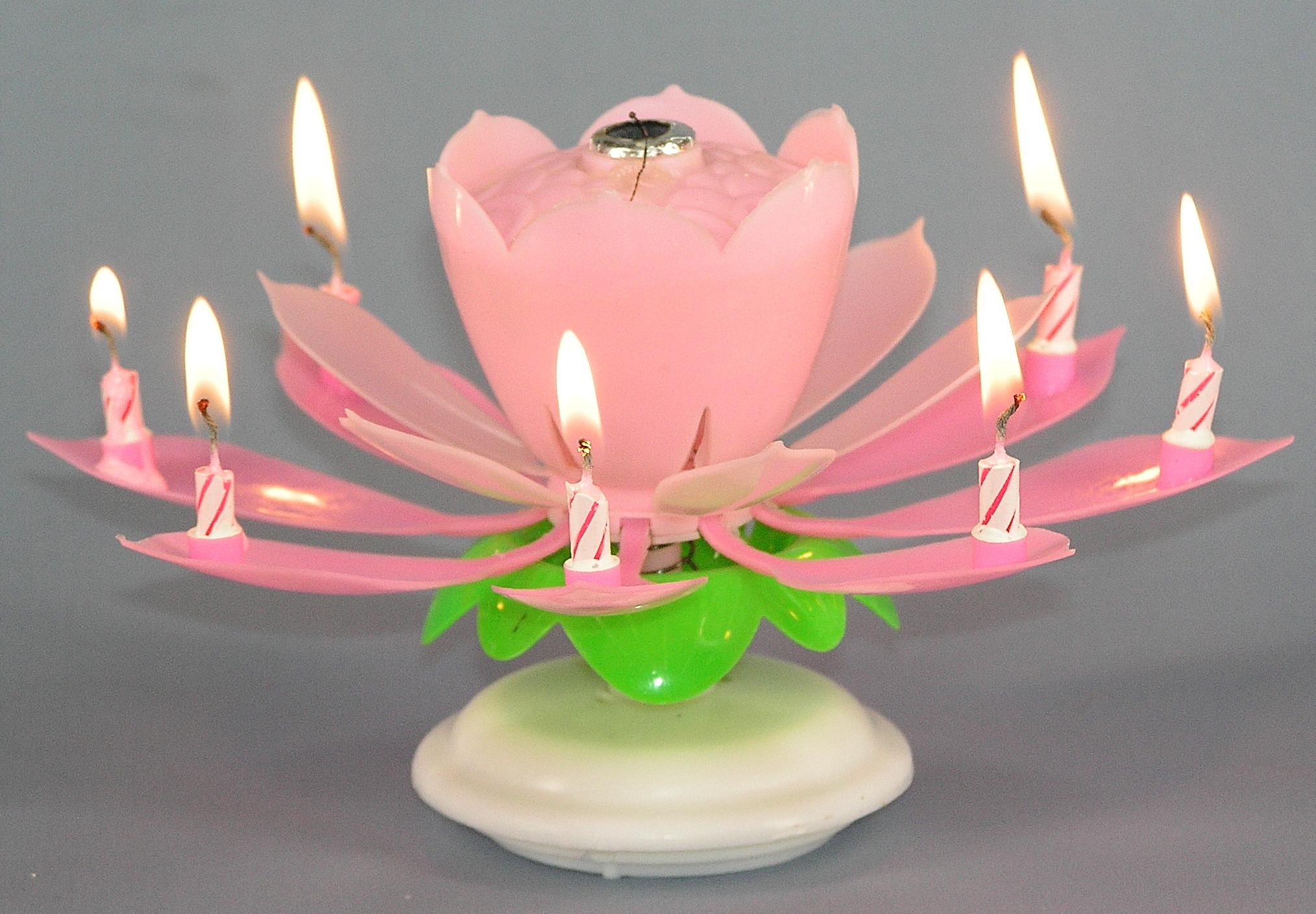 svijeće za rođendan Svijeća  cvijet svira