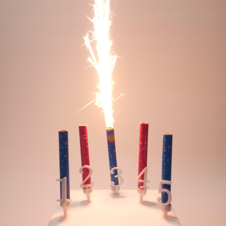 svijeće za rođendan Prskalica s brojem   Sve i svašta svijeće za rođendan