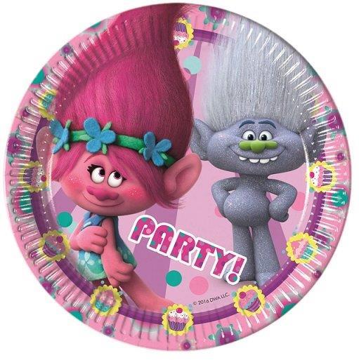 tanjuri za rođendan Tanjuri   Trolls set/8 tanjuri za rođendan